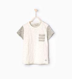 ZARA - KIDS - T-shirt with striped back