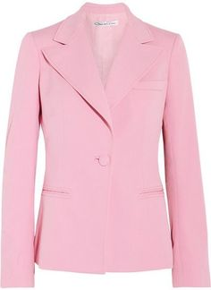 Oscar de la Renta Wool-blend Gabardine Blazer - Pink