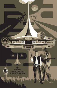 Star Wars - Han Solo & Chewbacca by Ben Smith