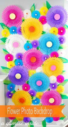 A Glimpse Inside: Flower Photo Backdrop Tutorial