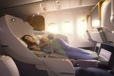 Travel in style. Business Class flights. Love it!