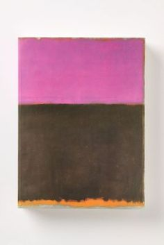 Rothko. It's kind of ironic how looking at paintings by Rothko can make me so so happy.