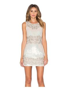 Needle & Thread Floral Contour Mini Dress