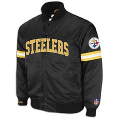 Steelers Mitchell & Ness NFL Backup Satin Jacket - Mens - Black
