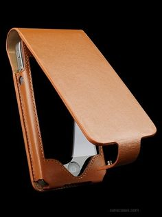 Sena Cases - Designer Leather Cases : iPhone 4S Leather Cases Hampton Flip for Apple