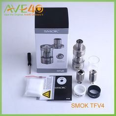 Smok TFV4 Tank Quadruple Coil Top Refill Sub Ohm Tank RBA Atomizers Smoktech TFV 4 fit with Somk X Cube Battery M80 Box Mod Welcometo Ave Forty, home of all of your quality vaping needs. We offer a wide selection of the best and newest electronic cigarettes. We have developed a sound business relationship with all of o  #Vapor http://www.vaporgasme.com/produk/smok-tfv4-tank-quadruple-coil-top-refill-sub-ohm-tank-rba-atomizers-smoktech-tfv-4-fit-with-somk-x-cube-battery-m80