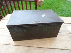 Large Metal Engineers Storage Box Industrial Storage for the Home or Office Cleaned Polished & ready to go Hinged Lid with internal tray by VintageFoggy on Etsy