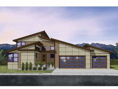 Modern House Plan with 2566 Square Feet and 3 Bedrooms from Dream Home Source | House Plan Code DHSW68909