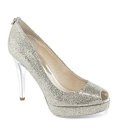 These would be so cute for News Years eve! MICHAEL Michael Kors York PeepToe Pumps #Dillards