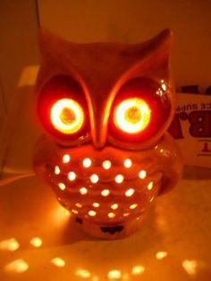 Vintage owl lamp.: