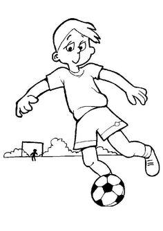 Coloriage d'une fille qui jongle avec son ballon de foot
