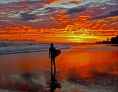 A surf at sunset. Is it any wonder Aussie's are so laid-back?