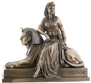 Cleopatra on Sphinx Sculpture