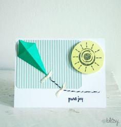 Origami Kite Card! #blitsy #DIY