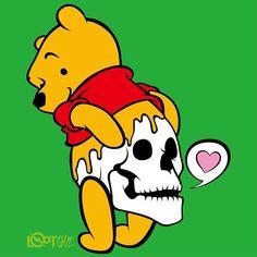 LOOTONE Design 2015 Hip Skull プーさんは蜂蜜で お尻はドクロで出来ている www.lootone.com by lootone_japan