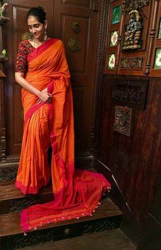 Handloom cotton sarees Order what's app 7995736811
