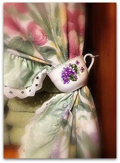 Tea cup , curtain tie back