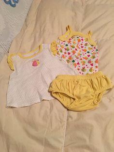 Vintage Carters Baby Girls Yellow Bee Set by simplepleasantthings