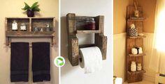 Arredare il bagno riciclando i bancali! 20 idee per ispirarvi + video tutorial