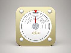 (Free PSD) Braun radio iOS icon by İŞ
