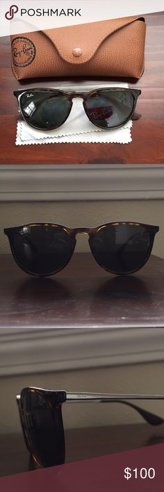 Brand new tortoise Erika style Ray Bans Barely worn ray ban sunglasses. Erika style, tortoise color Ray-Ban Accessories Sunglasses