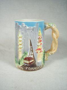 Vintage San Francisco Collectible Souvenir Lustreware Beer Stein, Mug, Tankard by SnapshotsThroughTime