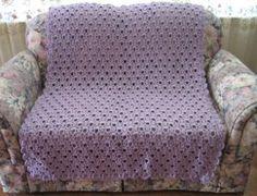 Cozy Lavender Lace Throw | AllFreeCrochetAfghanPatterns.com