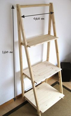 tried this pin add a photo to show how it went diy easy wood and furniture design 7 Built In Bookcase, Ladder Bookcase, Ladder Shelf Diy, Easy Woodworking Projects, Wood Projects, Diy Furniture, Furniture Design, Homemade Furniture, Creation Deco