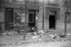 1936. Tiendas abandonadas en Carabanchel