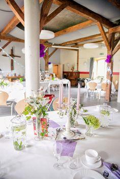 Bazooka Crafts: Our Thrifty &Crafty Wedding ~ Wedding Location Decoration/Transformation