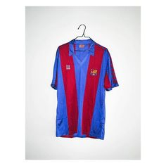 """78a64b2e4 Football Shirt Collective on Instagram  """"First person you think of when you  see the 1984 Barcelona home shirt  📷  classicsoccerjerseys Link in bio 👆"""""""