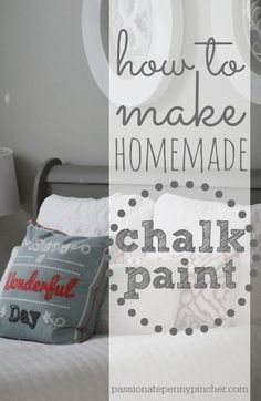How To Make Homemade Chalk Paint + Our $48 Goodwill Sleigh Bed