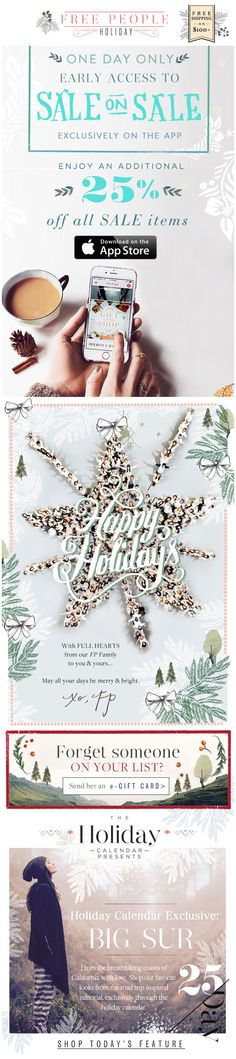 Free People : Holiday Letter + App