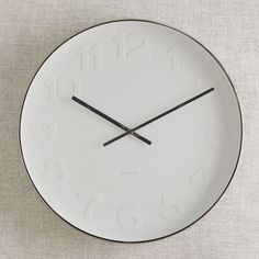 West Elm Clock -as time is eternal the hs have been lost ... thats our era