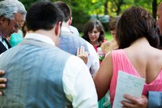 Family Prayer - Katie + Kenny's Wedding  {The Fillauer Lake House - Cleveland, TN} Photo By Caressa Rogers Photography