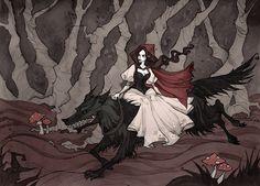 Little Red Riding Hood by Ksenia Svincova / IrenHorrors