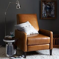 Sedgwick Leather Recliner #westelm