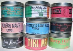 A variety of hair pomade.