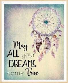 May all your dream come true Dream catcher by LeelaPrintableArt #dreamcatcher #nurseryprint