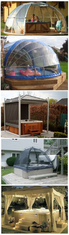non wood hot tub enclosures #HotTubs