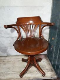 Oude Bureau Stoel.Oude Antiek Brocante Thonet Draaistoel Bureaustoel Stoel