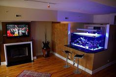 Wundervoll Aquarium Haus Platz Wohnzimmer Barhocker Bartheke
