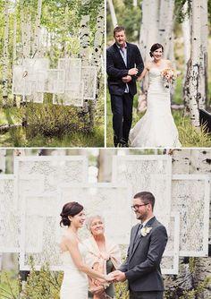 DIY Wedding Ideas: 11 Ceremony Backdrops | Mine Forever