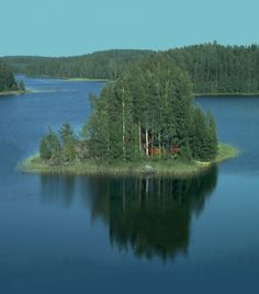 """A private island with a summer cottage (""mökki"") in Finnish Lakeland, Finland"" - Photograph by Plenz - September 2 2005 Lappland, Summer Landscape, City Landscape, Weathering And Erosion, Summer Dream, Scandinavian Countries, Europe, Archipelago, Lake District"