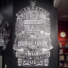 Hampton Creative hand drawn typography. Beautiful
