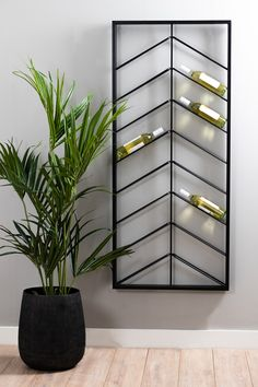 Metal Storage Racks, Wine Storage, Apartment Interior, Kitchen Interior, Diy Home Crafts, Diy Home Decor, Back Bar Design, Wine Rack Furniture, Wine Shelves