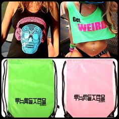 New Neon Party Sacks Only $12.95 at www.ELECTROTHREADS.com