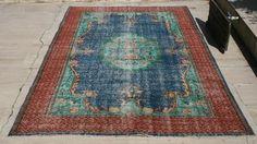 FREE SHIPPING! Vintage Oushak Rug 5.2x8.7ft Low Pile Rug Distressed Rug Overdyed Rug Antique Rug Handmade Rug Turkish Rug Anatolian Rug  https://www.etsy.com/shop/UrbanRug #overdyed#rugconcern#rugismylove#kilim#oushak#oushakrug#cappadocia#antiquerug#turkishrug#anatolian#retro#bohorug#carpet#traditionalrug#vintagerug#handmaderug#vintage#women#decoration#home#tribal#interiordesign#style#nomadic#ihavethingwithrugs#dsnicerug#apartmenttherapy#ruglove#persianrug#runner