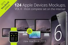 124 Apple Responsive Devices Vol 2 by RadekBroz on Creative Market