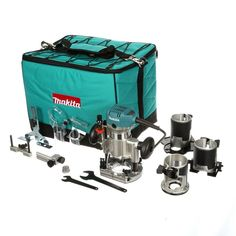 Makita 1-1/4 HP Compact Router Kit with 3-Bases